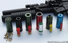 Updated and rail-mounted, Lewis Machine & Tool's grenade launcher delivers flares, buckshot, high explosives and more! Grenades, flares and buckshot; Weapons Guns, Guns And Ammo, Glock Guns, Tactical Survival, Tactical Gear, Zombie Survival Gear, Airsoft, M203 Grenade Launcher, The Lone Ranger