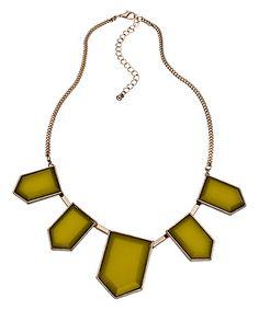 Blu Bijoux Gold with Gold Hexagons Bib Necklace #maxandchloe