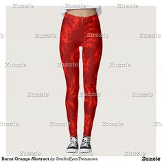 Burnt Orange Abstract Leggings design by Susan at Smilin' Eyes Treasures.  Matching tank top is available.