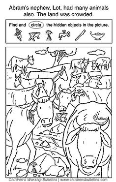 Abram and Lot Separate | Coloring Pages | Kids sunday ...