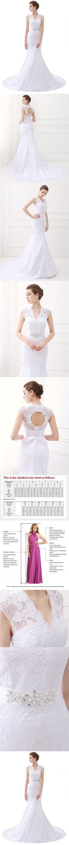 Ubridal Real Pictures Embroidery Lace Mermaid Court Wedding Dresses Bridal Gowns white 26W