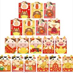 Fill with money, gold coins, or jewelry to give as gifts during Chinese New Year, birthdays, weddings, and other special occasions. Chinese New Year Gifts, Red Envelope, Gold Coins, Special Occasion, Fill, Birthdays, Weddings, Money, Jewelry