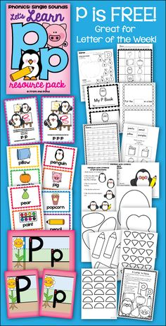 Letter of the Week - Let's Learn the Alphabet Letter P Phonics / Sounds