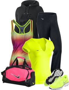 "the perfect ""workout outfit"" Nike Pro Workout clothes for Women… Sport Style, Gym Style, Sport Chic, Mode Style, Sport Fashion, Look Fashion, Fitness Fashion, Womens Fashion, Fashion Tips"