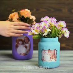 Diy Crafts For Home Decor, Diy Crafts Hacks, Diy Crafts For Gifts, Diy Arts And Crafts, Fun Crafts, Paper Crafts, Handmade Crafts, Mason Jar Crafts, Bottle Crafts