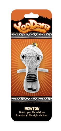 YooDara Good Luck Charms - Newton grants you the wisdom to make all the right choices. #voodoo doll #string doll
