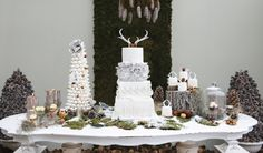 25 perfect finishing touches for your dream winter wedding - wintry cake ideas