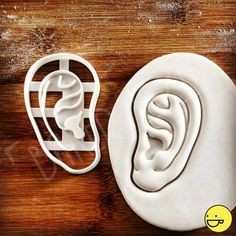Anatomical Human Ear cookie cutter | biscuit cutter | Outer Ear auricle auricula pinna pinnae Anatomy | one of a kind ooak