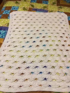 Dakota's baby blanket I knitted for his nursery.
