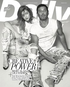 The Daily Front Row Magazine features a self-portrait of fashion photographer Mert Alas with top model Gigi Hadid on the cover of their Hollywood Edition.