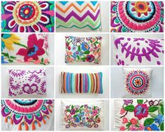 como hacer bordados mexicanos a mano ile ilgili görsel sonucu Mexican Embroidery, Embroidery Applique, Cross Stitch Embroidery, Embroidery Patterns, Crochet, Needlework, Sewing Projects, Weaving, Arts And Crafts