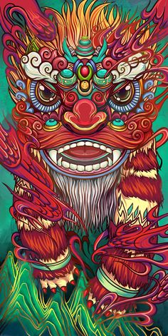 Foo Dog Tattoo, 4 Tattoo, Japanese Artwork, China Art, Japan Art, Sketch Design, Graffiti Art, Doodle Art, Cute Art