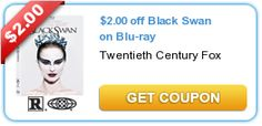 $2.00 off Black Swan on Blu-ray. New as of 10/18/12