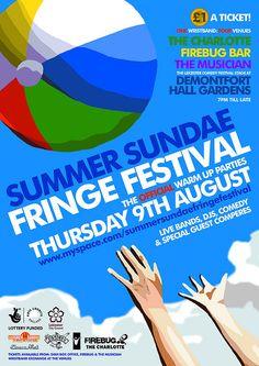 summer sundae leicester fringe festival poster by andrewblack, via Flickr