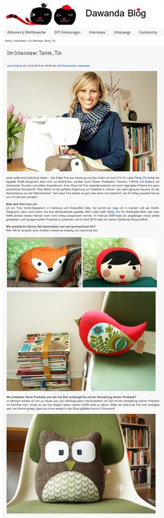 Tante Tin: face pillow for infants