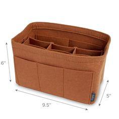 Pelikus® Felt Purse Organizer Insert / Multi-Pocket Handbag Shaper (Caramel)