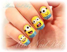 Beautifull nails// despicable me nailss,,,,