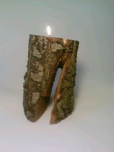 Tealight Candle Holder Log Rustic by DeerwoodCreekGifts on Etsy, $15.00