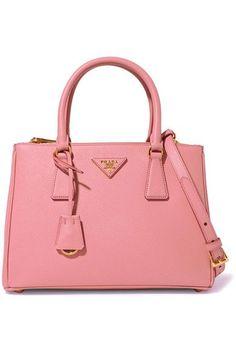 Prada - Galleria Medium Textured-leather Tote - Pink - one size