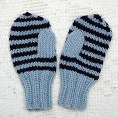 Enkle barnevotter (oppskrift) | MAJAS HOBBYKROK Knit Mittens, Baby Knitting Patterns, Baby Booties, Knitting Projects, Diy And Crafts, Knit Crochet, Gloves, Wool, Inspiration