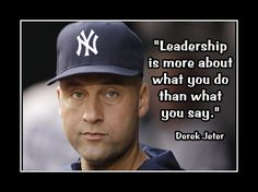 """Items similar to Baseball Motivation Derek Jeter Yankees Photo Quote Wall Art Print 5x7""""- 11x14"""" Leadership Is About What You Do Not What You Say - Free Ship on Etsy"""