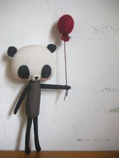 Panda with balloon