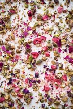 Rose Pistachio & Strawberry White Chocolate Bark | Now, Forager | Teresa Floyd Photography