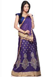 Purple Chanderi Silk Lehenga Choli with Dupatta Silk Lehenga, Sari, Party Wear Lehenga, My Wardrobe, Bridesmaid, Indian, Purple, Skirts, How To Wear