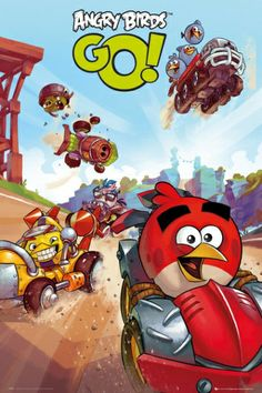 Angry Birds Go Racing - plakat