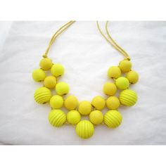 Yellow Necklace,Statement Necklace,Choker Necklace,Bubble... ($12) ❤ liked on Polyvore featuring jewelry, necklaces, beaded statement necklace, beaded necklaces, yellow bubble necklace, bubble necklaces and beaded choker necklaces