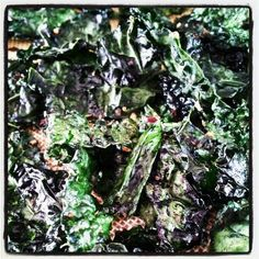 """""""Smoked"""" Kale Chips Homemade Kale Chips, Sprouts, Vegetables, Plants, Food, Essen, Vegetable Recipes, Meals, Plant"""