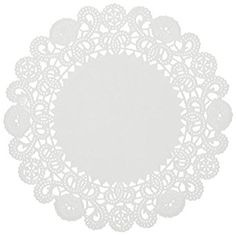 Hoffmaster Round Rose Doilies White Case Of 1,000 Doilies 6