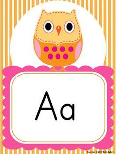 Owl Decor Word Wall