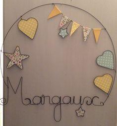Prenom en fil de fer personnalisable decoration murale pour chambre d'enfant : Décoration pour enfants par chacha-des-etoiles