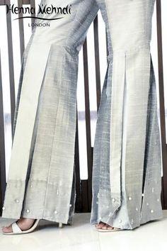 Embroidered Trousers and Bootcut trousers Gharara Pants, Salwar Pants, Leggings Fashion, Fashion Pants, Fashion Outfits, Kids Fashion, Terno Casual, Gharara Designs, Wedding Dresses For Kids