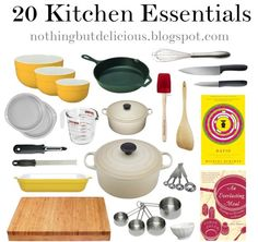 20 things that every good cook should have in his or her kitchen.