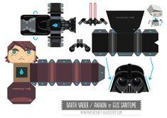 Blog Paper Toy papertoy Mini Darth Vader template preview Star Wars Mini Darth Vader papertoy