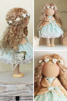 Beaty doll handmade turquise blonde colors by AnnKirillartPlace