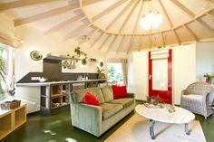 Inside Yurt Cabin