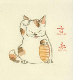 maneki neko... Just like my cat!