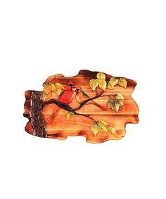 Intarsia Wood Art- Cardinals