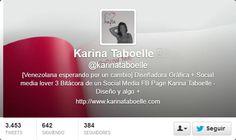 Fotos Twitter de portadas de Karina Taboelle