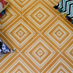 Sabine Hill concrete tile collection offers fresh modern patterns and colors.