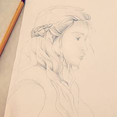 #got #targaryen #daenerystargaryen #daenerys #art #pencil #motherofdragons