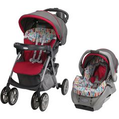 Graco Spree Classic Connect Travel System, Signal - cute for a boy.