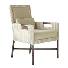 McGuire Furniture: Thomas Pheasant Woven Core Dining Arm Chair: No. WS-404