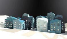 """Utopia Arkitekter (@utopiaarkitekter) """"A fake model render of our residential project for Wåhlin Fastigheter in Hallonbergen. Check it…"""""""