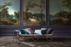 Heirloom quality velvets enter a modern era with 's Velluto Gellato velvet and Avventura printed linens — a new generation of a beloved texture takes center stage Outdoor Sofa, Outdoor Decor, Printed Linen, Classic Mini, Classic Elegance, Chinoiserie, Art Nouveau, Colours, Interior Design