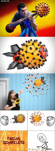 """New """"Nerf Nuke Launcher"""" can fire 80 darts in all directions!"""