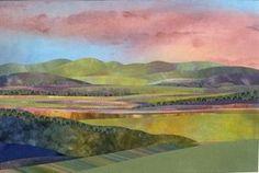 landscape applique quilts | Jo Diggs hand appliqué landscape